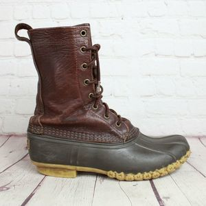 LL Bean Leather Unlined Rain Duck Boots
